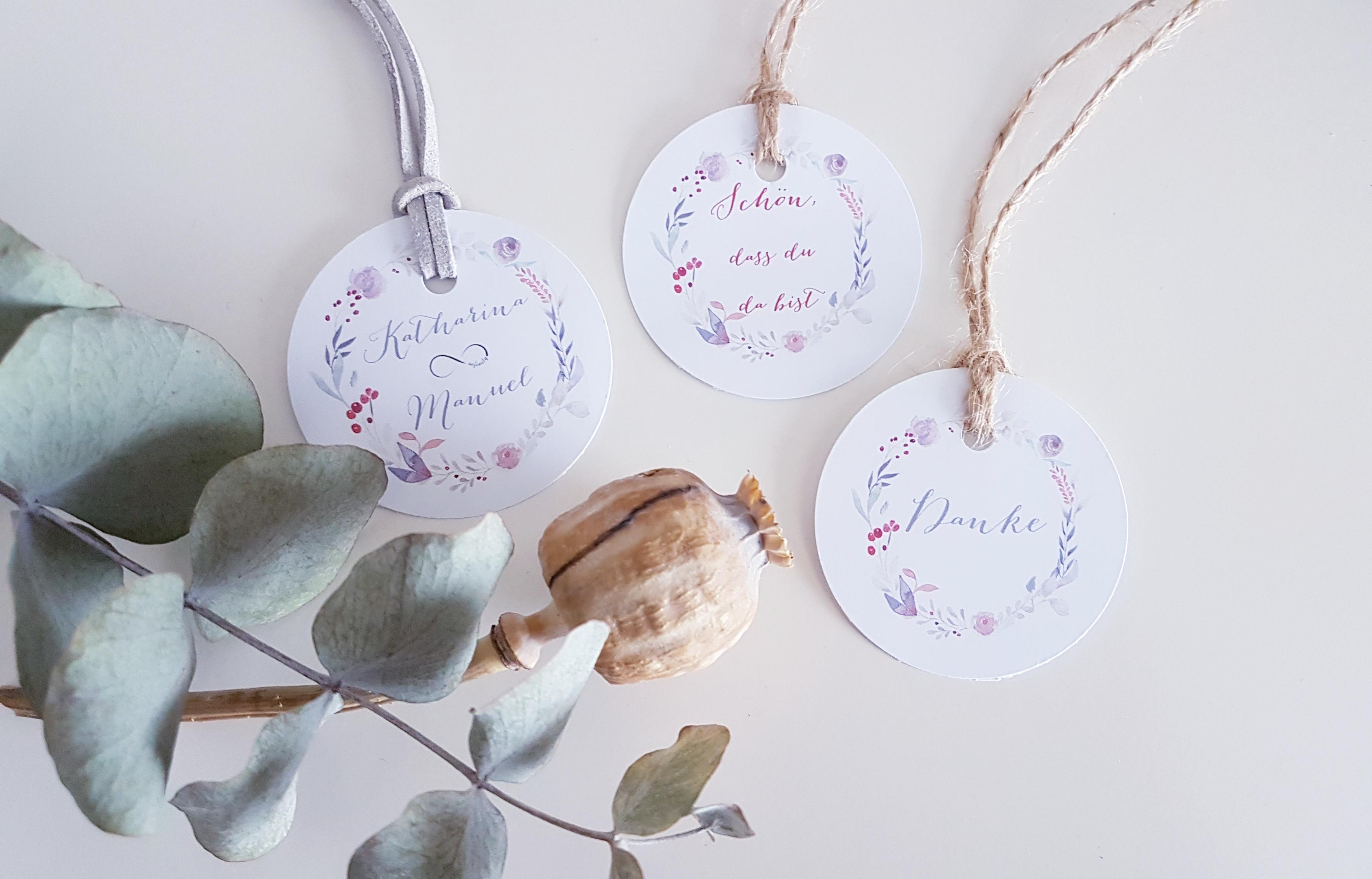 Etiketten Hochzeit